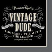 Vintage Dude Beverage Napkins - 16 Pack