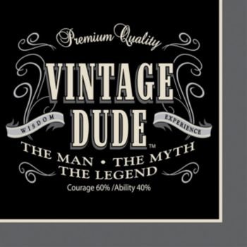 Vintage Dude  Beverage Napkins
