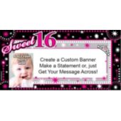Look Who Is Sweet 16 Custom Photo Banner
