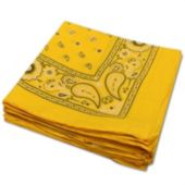 "Yellow 22"" Cotton Bandana - 12 Pack"