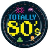 "Totally 80's 7"" Plates  - 8 Pack"