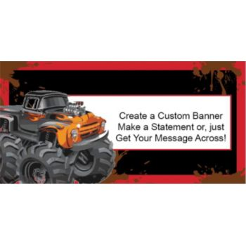 Mudslinger Monster Truck Custom Banner