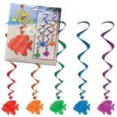 Fish Metallic Swirl Decorations-5 Per Unit