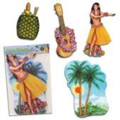Tropical Luau Cutouts-4 Pack