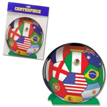 International Flag  Soccer Centerpiece