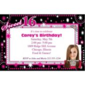 Look Who Is Sweet 16 Personalized Photo Invitations