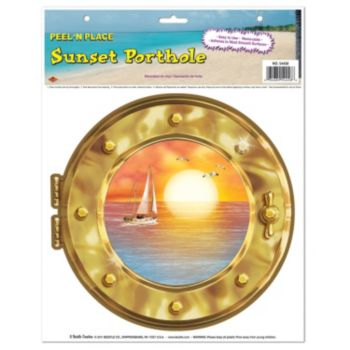 Sunset Porthole  Peel n' Place
