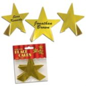 Gold Foil Star Place Card Holders-8 Per Unit