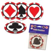 "Card Suit 3 1/2"" Coasters - 8 Pack"