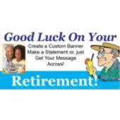 Retirement Custom Photo Banner