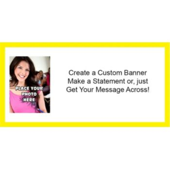 Yellow Border Custom Photo Banner