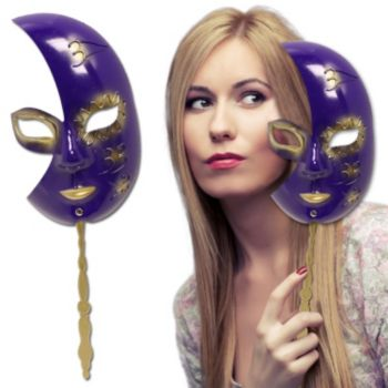 Purple & Gold  Masqerade Mask
