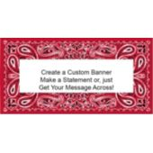 Red Bandana Custom Banner