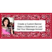 Red Bandana Custom Photo Banner
