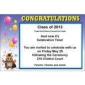 Graduation Owl Personalized Invitations