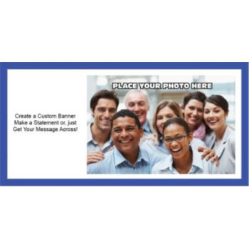 Blue Border Group Photo Banner