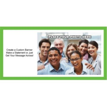 Green Border Group Photo Custom Banner