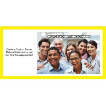 Yellow Border Group Photo Custom Banner