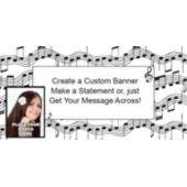 Music Note Custom Photo Banner