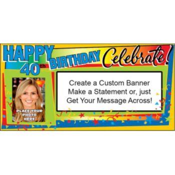 Celebrate 40 Custom Photo Banner