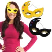Mardi Gras Velour Masks - 12 Pack