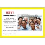 Yellow Border Group Personalized Photo Invitations