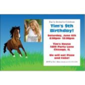 Horse Lover Photo Personalized Invitations