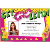 Luau Get Lei'd Photo Personalized Invitations