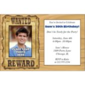 Wanted Poster Photo Personalized Invitations