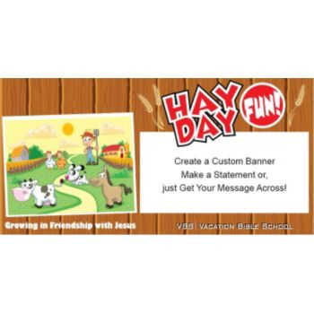 VBS Hay Day Fun Custom Banner
