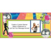 70S Disco Photo Custom Banner