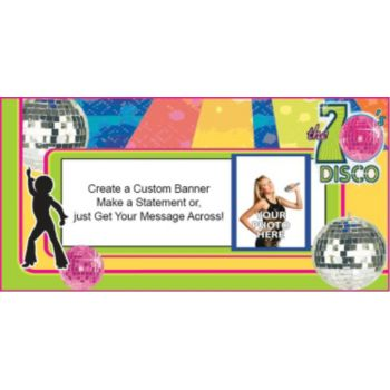70s Disco Photo Custom Banner