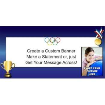 Olympic Gold Custom Photo Banner