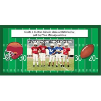 Football Players Custom Photo Banner