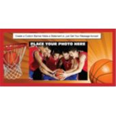 Basketball Players Custom Photo Banner