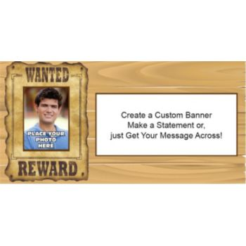 Wanted Poster Photo Custom Banner