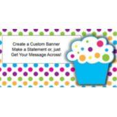 Cupcake Party Custom Banner