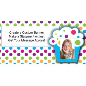 Cupcake Custom Photo Banner