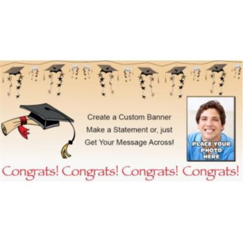 Congrats Graduate Custom Photo Banner