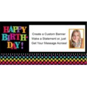 Birthday Dot Custom Photo Banner