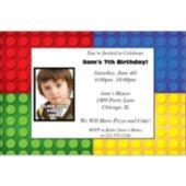 Building Blocks Custom Photo Personalized Invitations