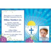 Boys First Communion Custom Photo Personalized Invitations