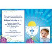 Boys First Communion Custom Photo Personalized Invitations
