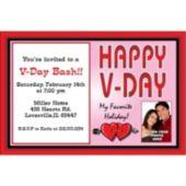 Valentine's Day Party Custom Photo Personalized Invitations