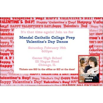 Valentines Day Custom Photo Personalized Invitations