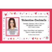 Be My Valentine Custom Photo Personalized Invitations
