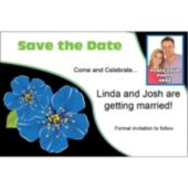 Blue Flower Custom Photo Personalized Save The Date
