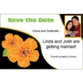 Orange Flower Custom Photo Personalized Save The Date