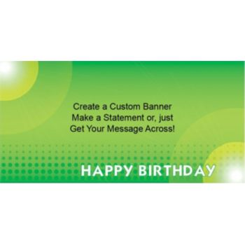 Green Birthday Dots Custom Banner