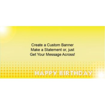 Yellow Birthday Dots Custom Banner